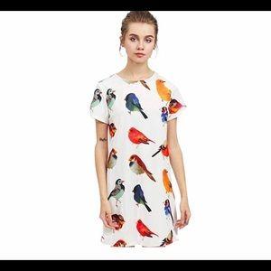 Romwe Women's short dress with bird print -Size M